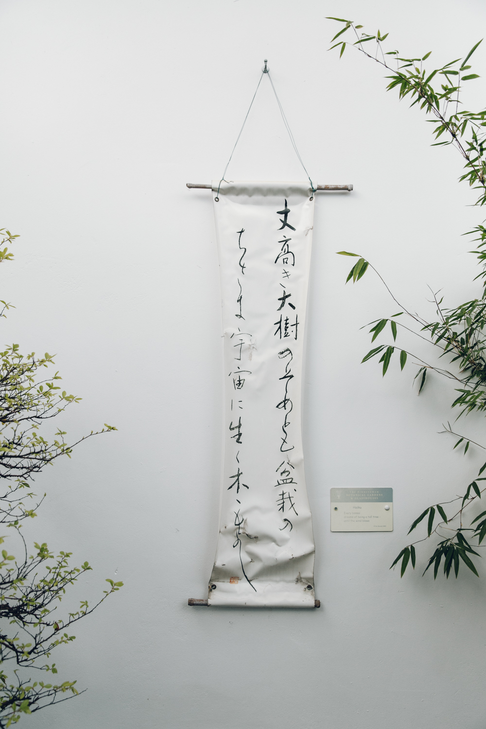 Japanese Haiku hanging wall art.