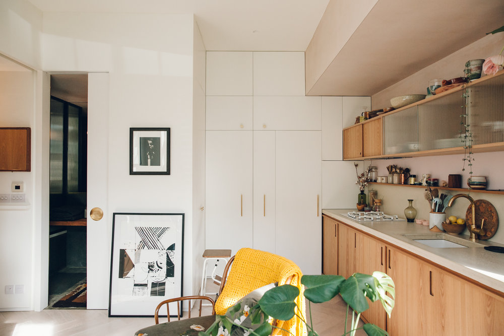 Midcentury-inspired apartment.