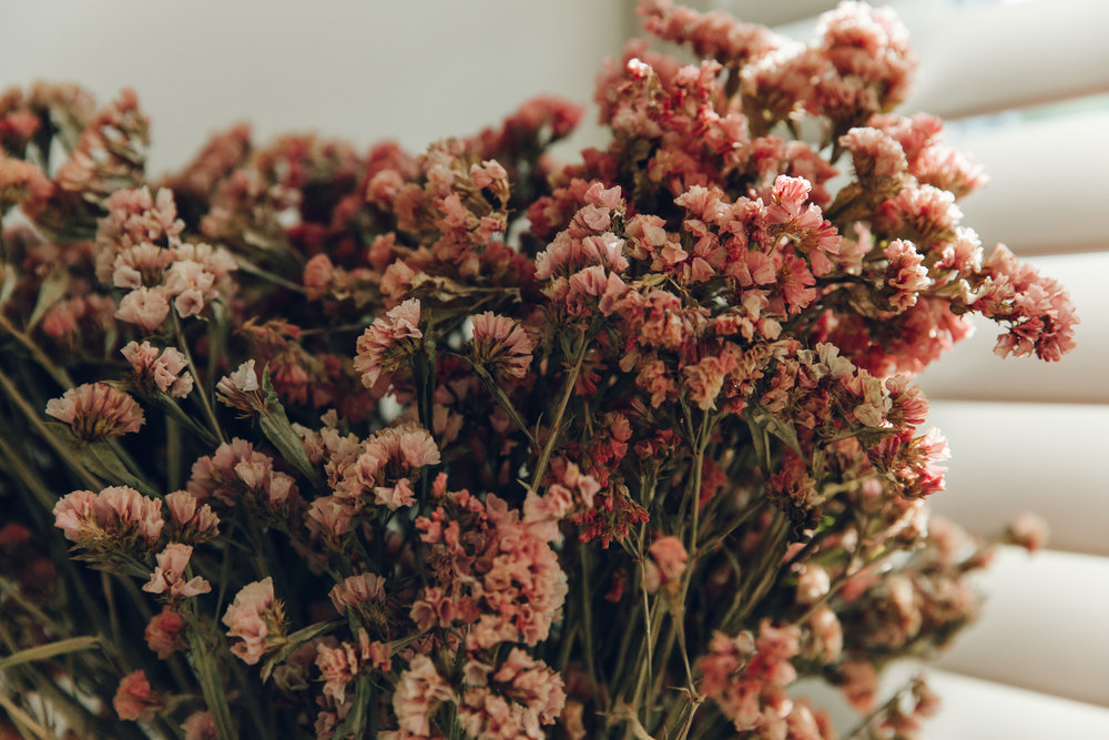 Dried flowers.