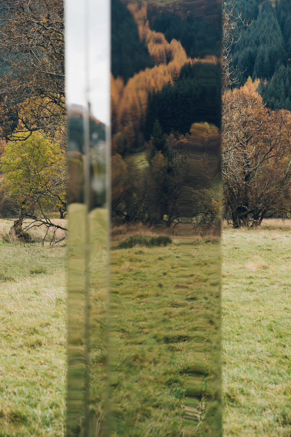 Mirrored landscapes in Autumnal Scotland.