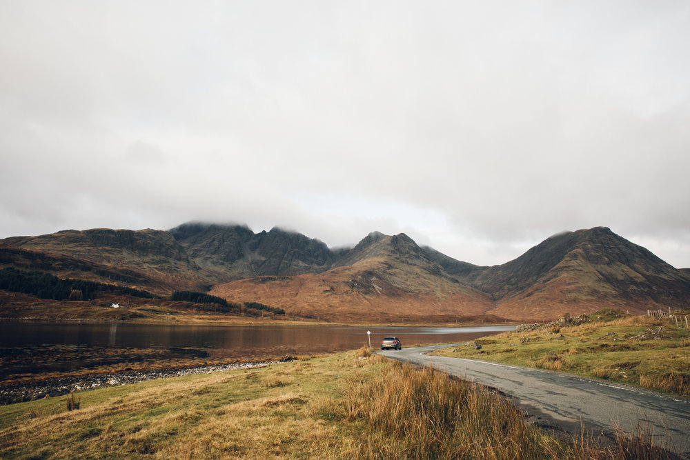 Road trip on the Isle of Skye.