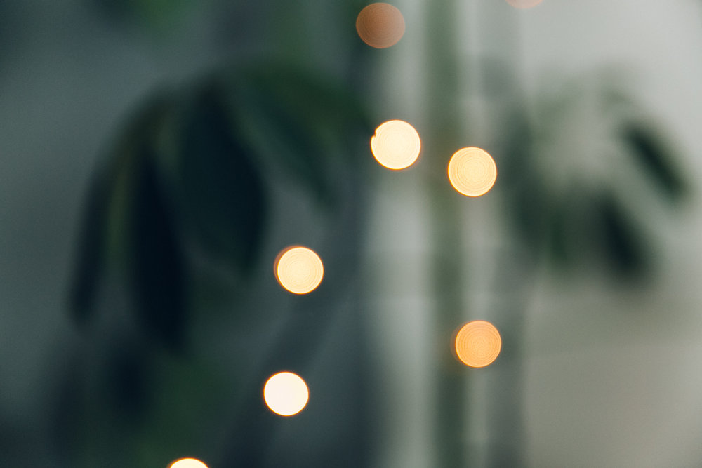 Bokeh lights.