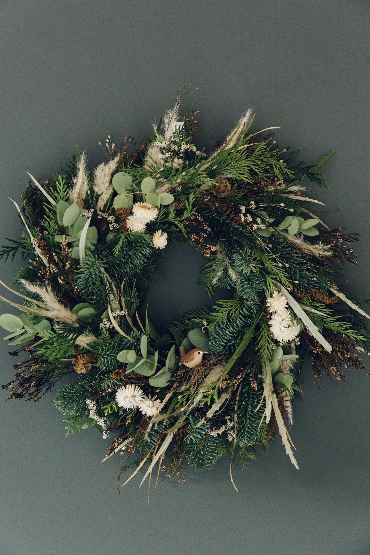 Handmade Christmas wreath.