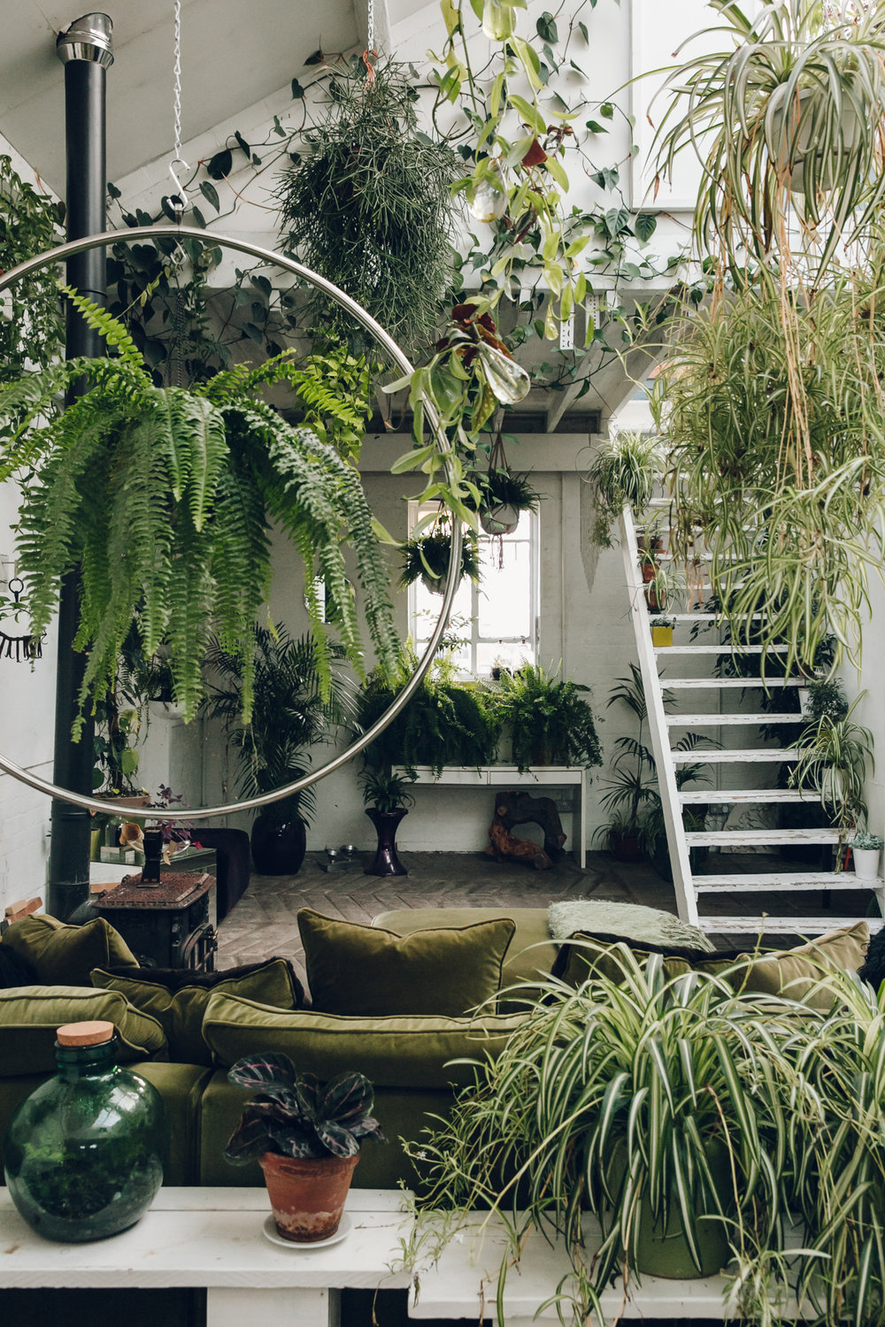Inside Clapton Tram A Plant Filled Warehouse Space: interior design plants inside house