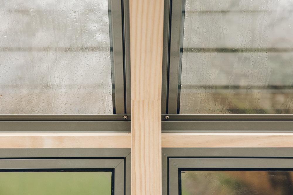 Details inside a brand new Cultivar greenhouse.