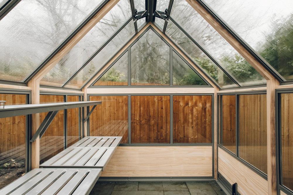 Inside a brand new Cultivar greenhouse.