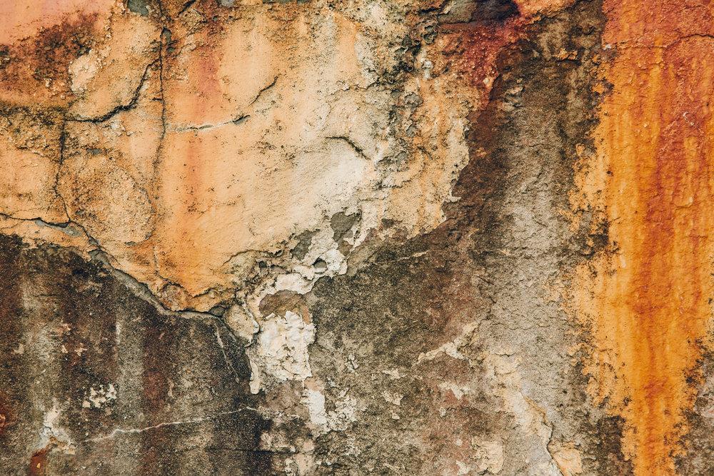 Rusty textures.