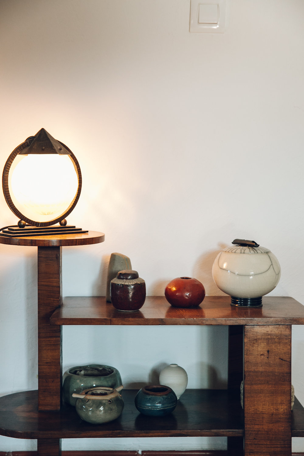 Ceramic display in our Spanish casa.