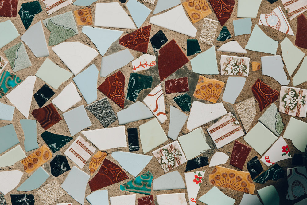 Mosaic tiles on a Spanish home.
