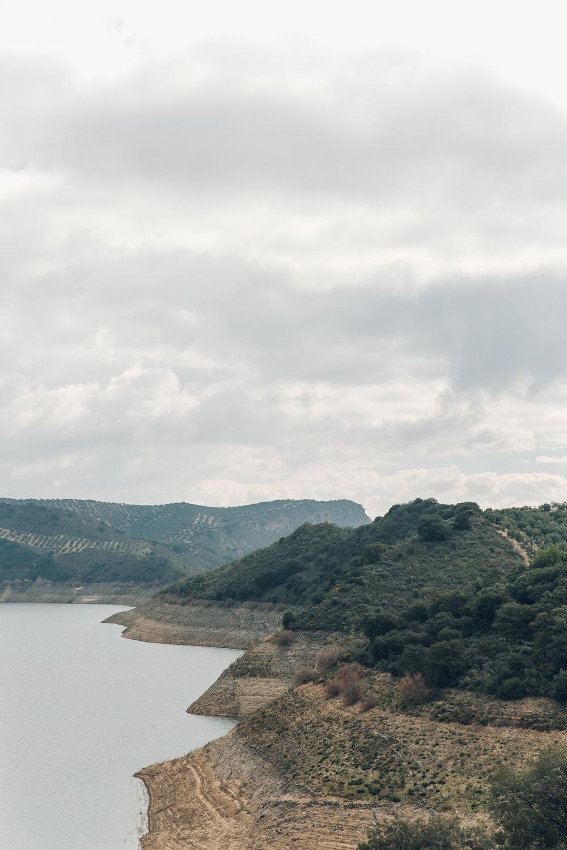 Lake Iznajar in Andalusia, Spain.