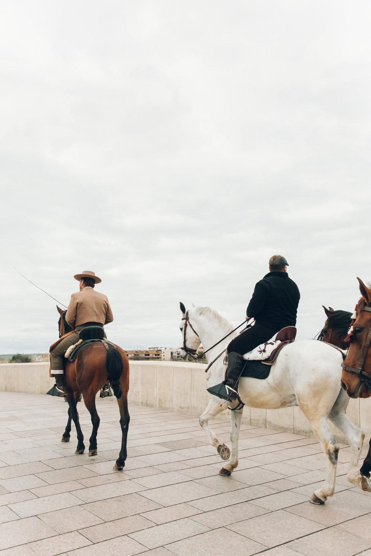 Men on horseback in Cordoba, Andalusia.
