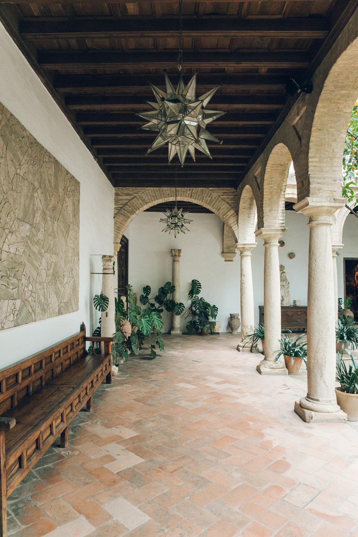 Inside the Palacio de Viana in Cordoba, Andalusia.