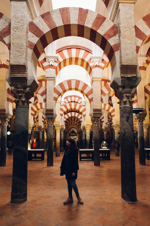 Inside the Mezquita in Cordoba, Andalusia.
