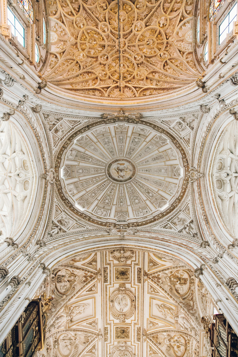 Incredible ceiling in the Mezquita in Cordoba, Andalusia.