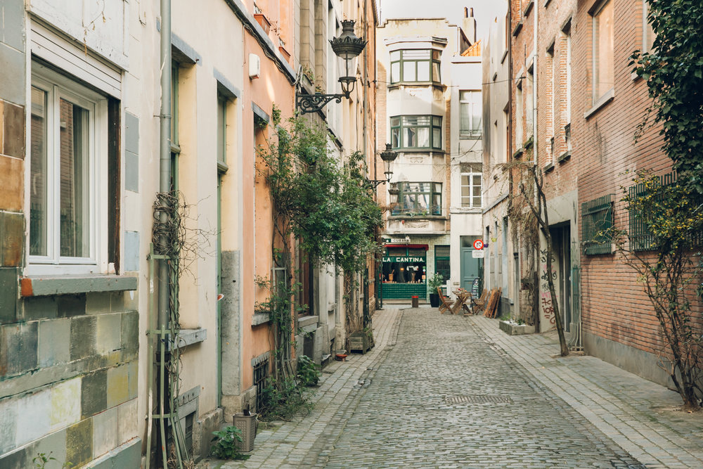 Wandering the side streets in Brussels, Belgium.