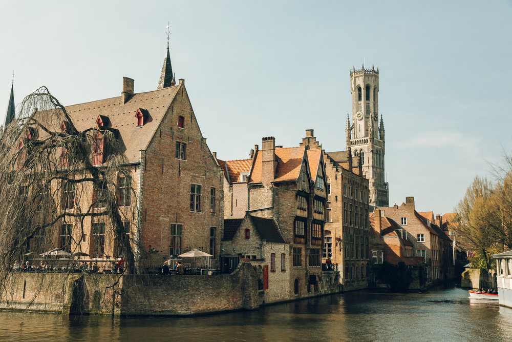 Exploring architecture in Bruges, Belgium.