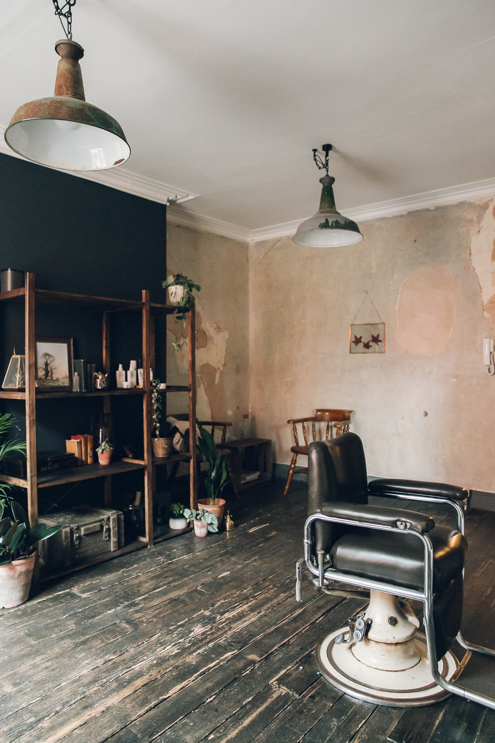 Inside Kojo & Lee, a plant-filled hair salon in Sheffield.