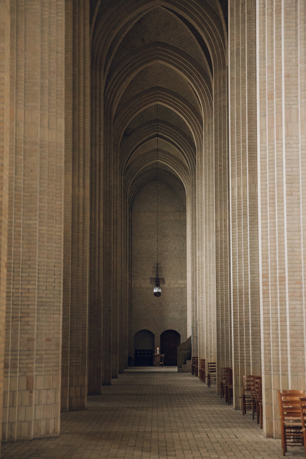 Grundtvig's Church in Copenhagen.