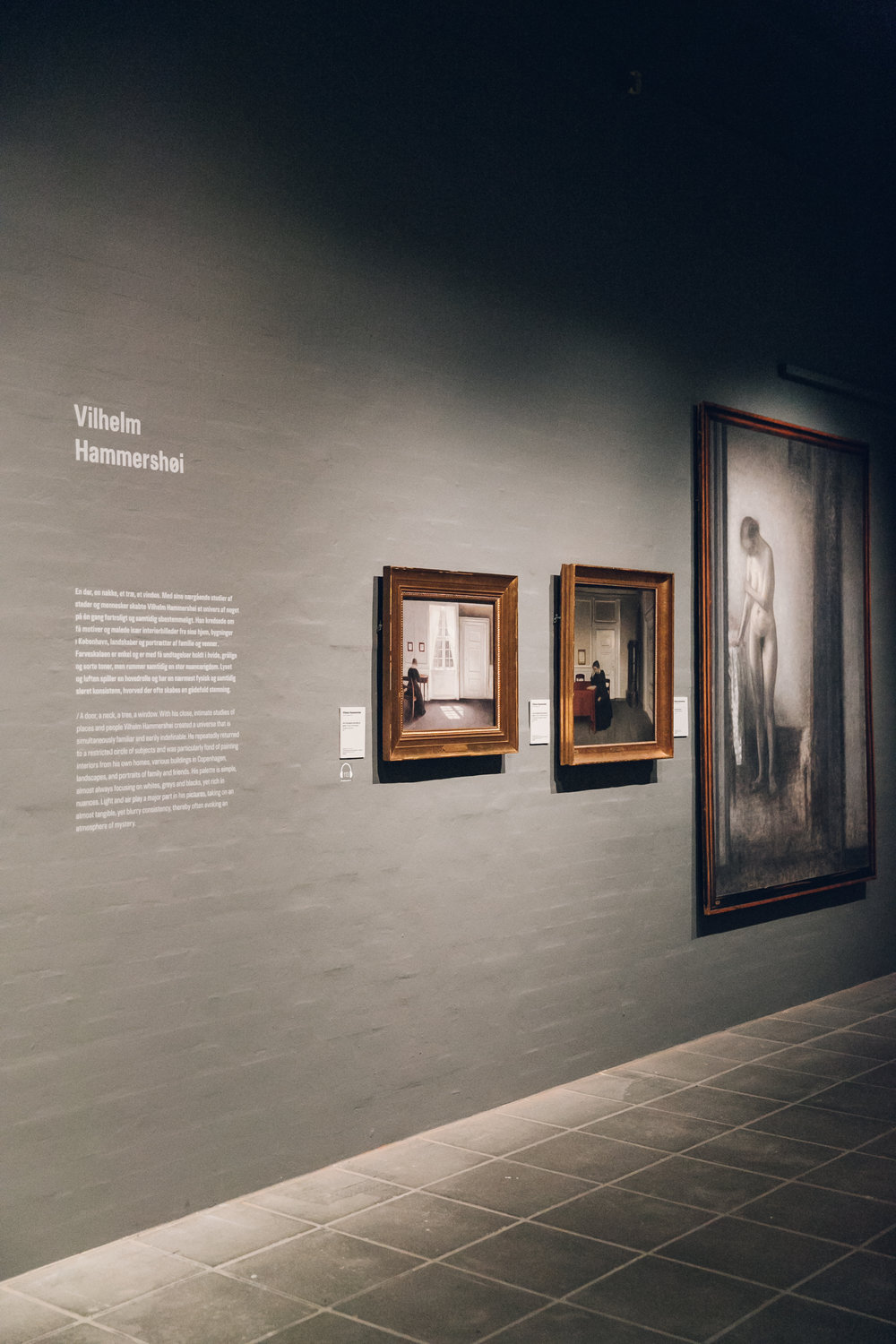 Vilhelm Hammershoi at SMK in Copenhagen.