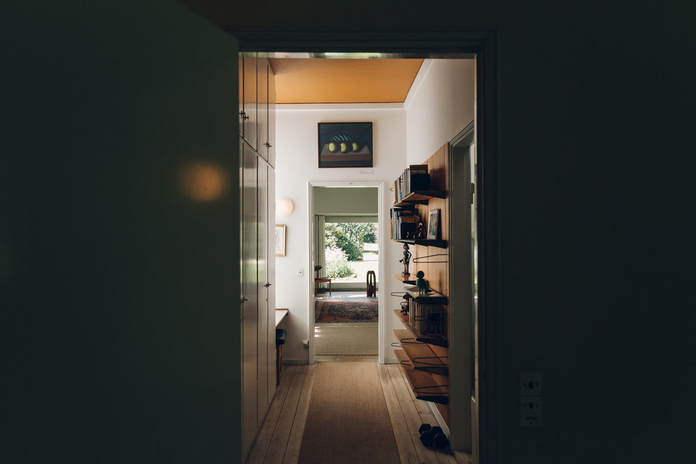 Hallway at Finn Juhl's House Copenhagen