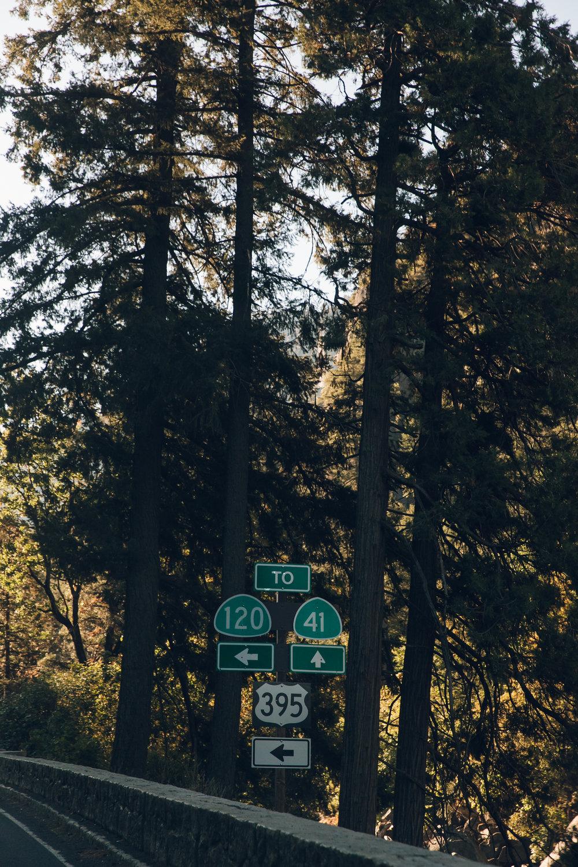 Yosemite National Park California Road Sign