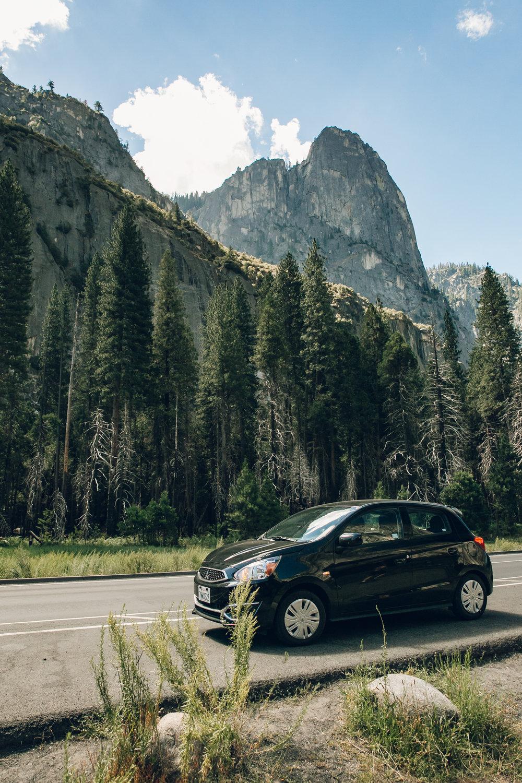 Yosemite National Park California Hire Car