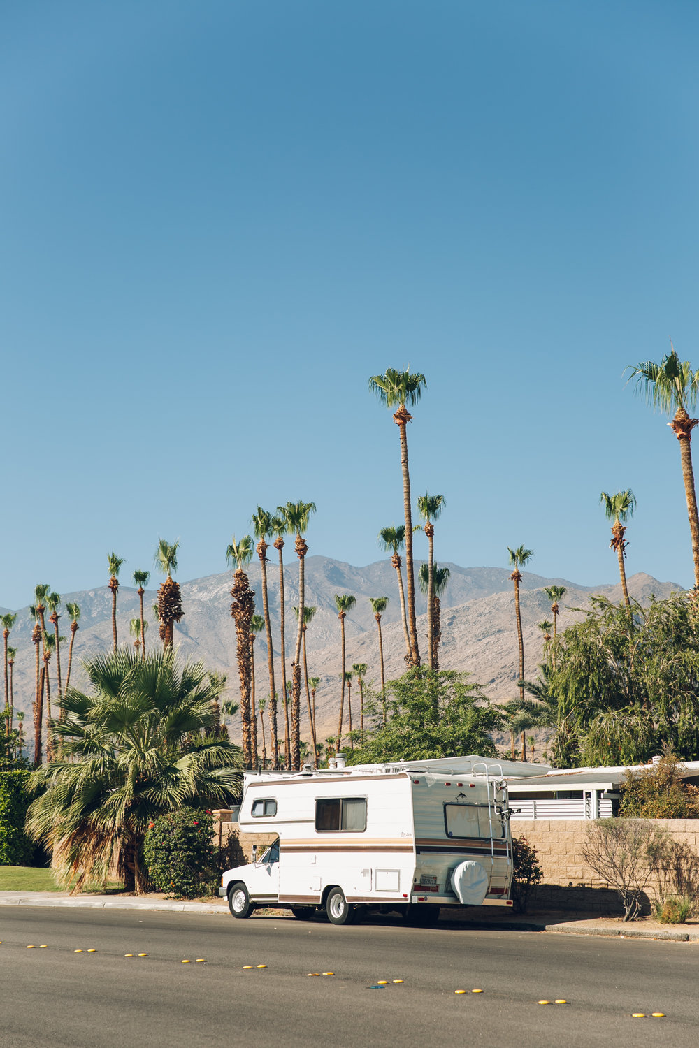 Palm Springs California RV Truck