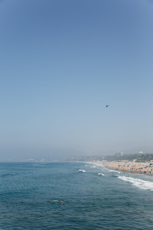 Santa Monica LA California Surfing