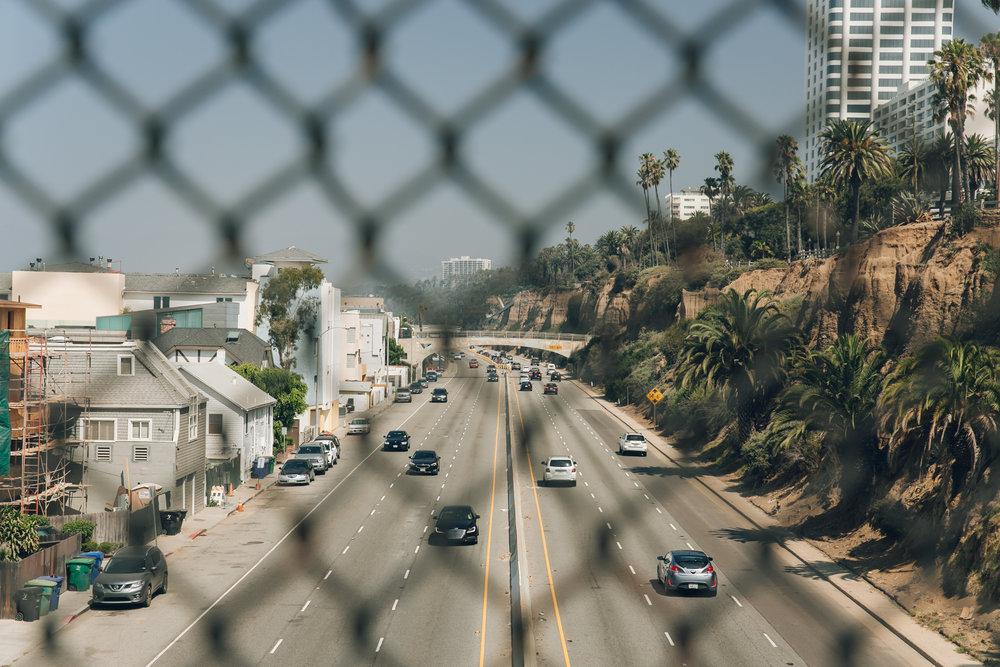 Santa Monica LA California Beach Road