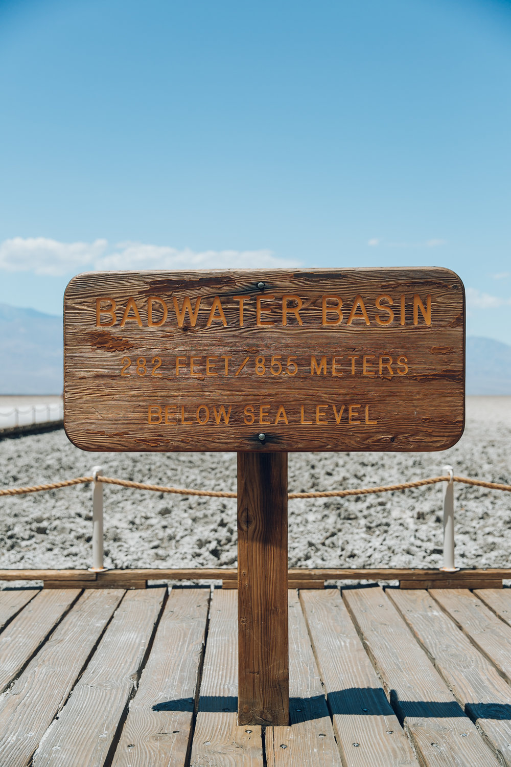 Death Valley National Park Badwater Basin Sign