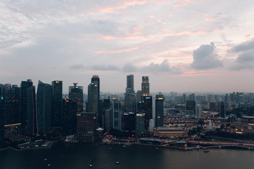 Marina Bay Sands Singapore Night