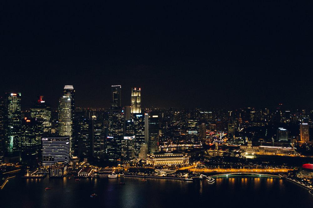 Marina Bay Sands Singapore at Night