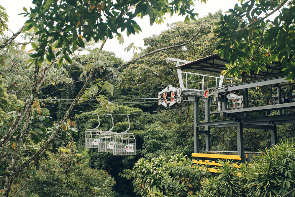 Zip Lining and Rope Bridges at Sky Adventures in Costa Rica