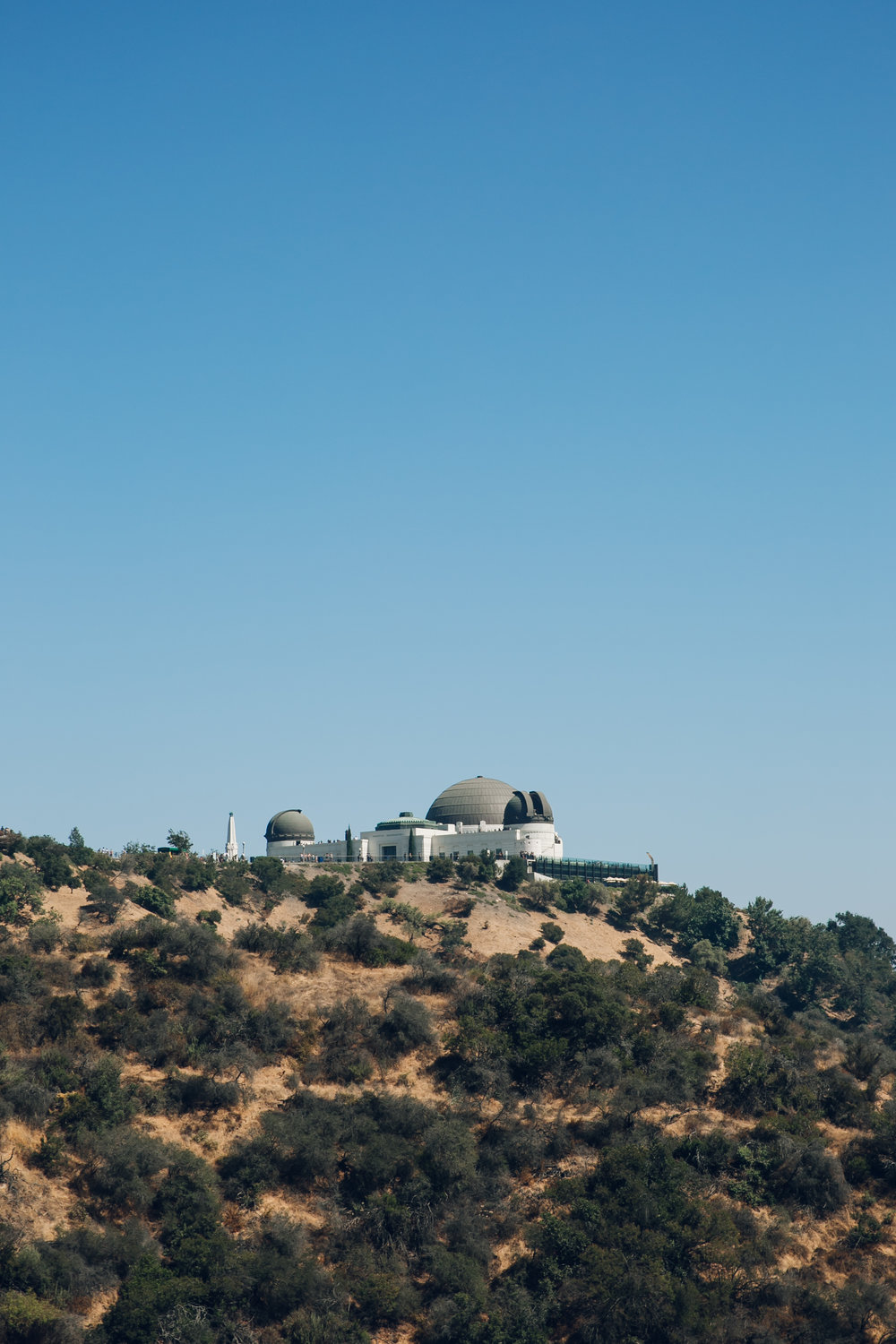The Griffith Observatory in Los Angeles.