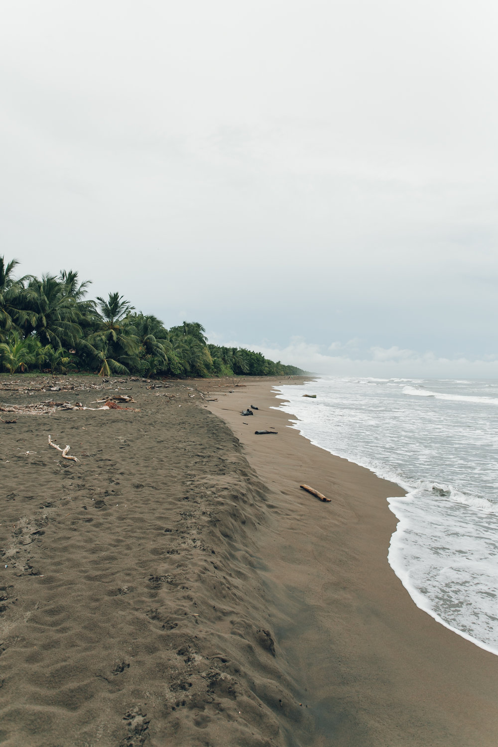Tortuguero village and beach in Costa Rica.