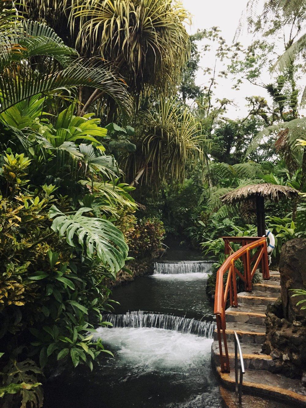 Tabacon Hot Springs in Costa Rica.