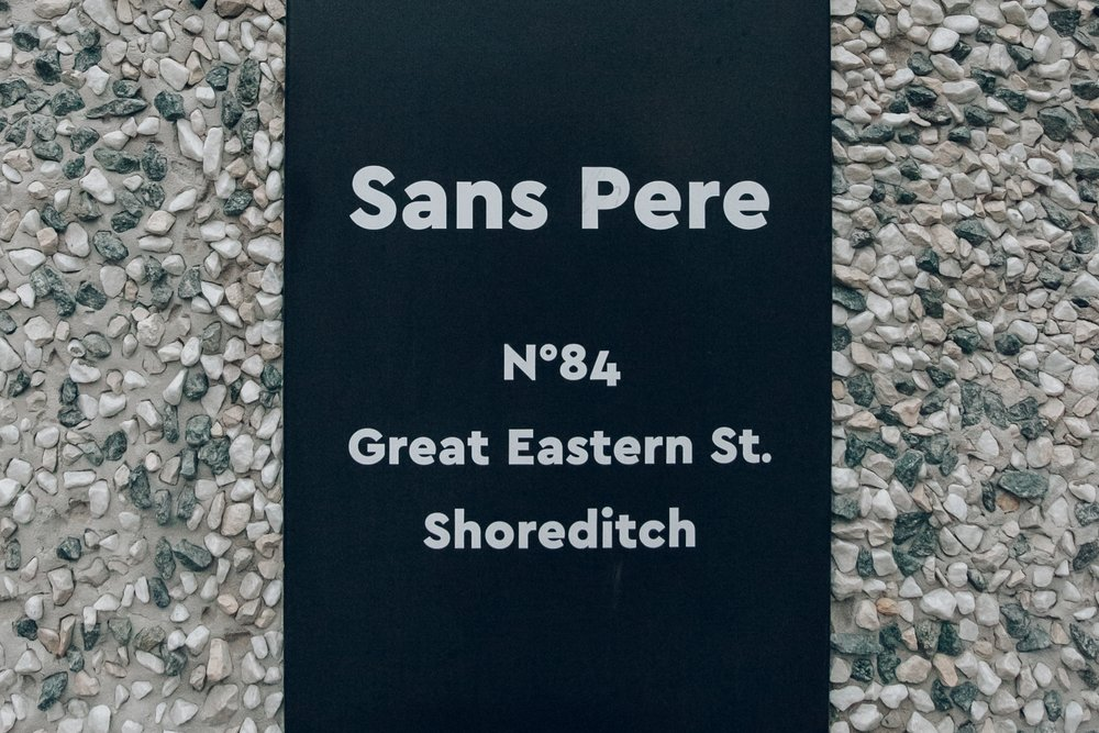 Sans Pere in Shoreditch, London.