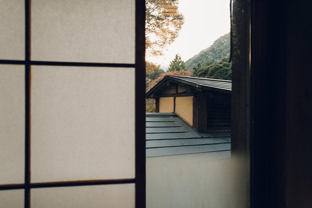 Japanese Ryokan, Hakone. Haarkon in Japan.