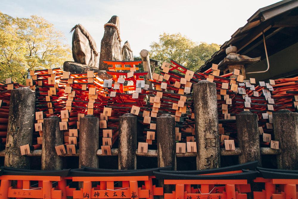 Fushimi Inari shrine in Kyoto - Haarkon in Japan.
