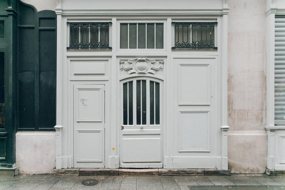 Paris in the Winter by Haarkon. Parisian doorway.