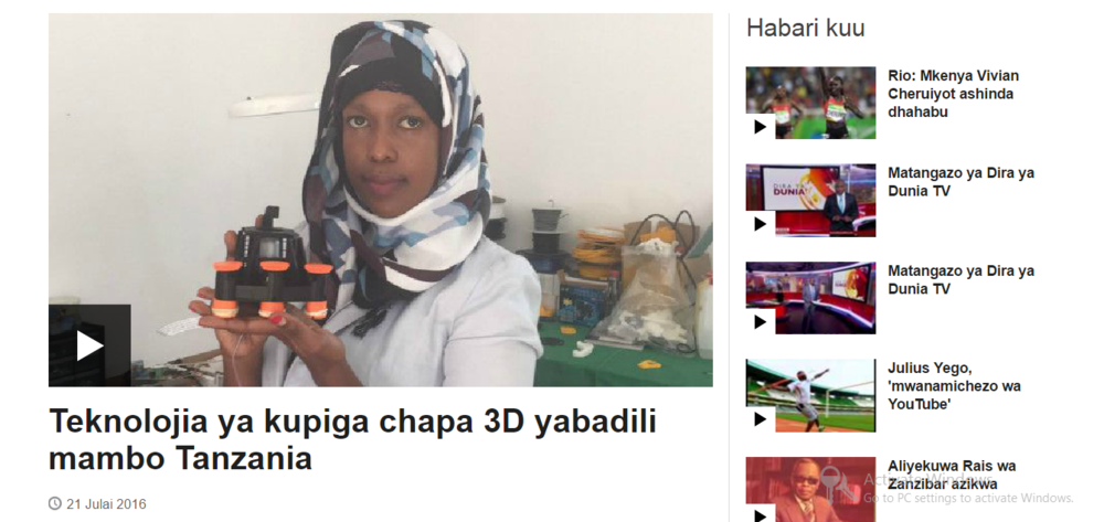 Refab Dar On Bbc Swahili Voices Of Africa Foundation