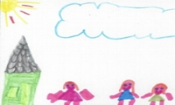 Green House Pink People Child Drawing HAF.jpg