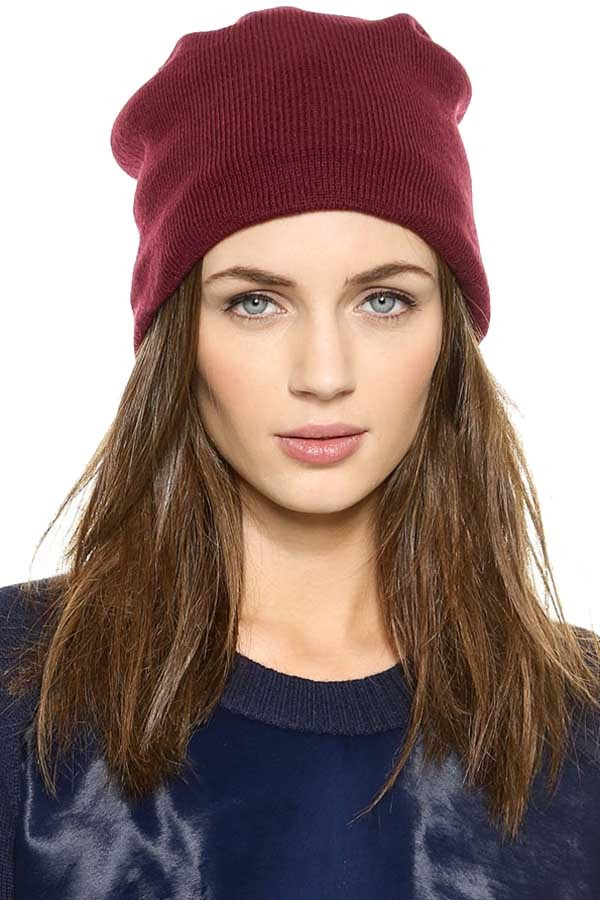 hats-caps-dark-red-solid-color-chic-knit-beanie-hat-015655