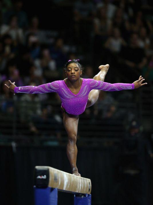 Simone Biles, olympics, gymnastics, purple, how to, beauty, stylebar