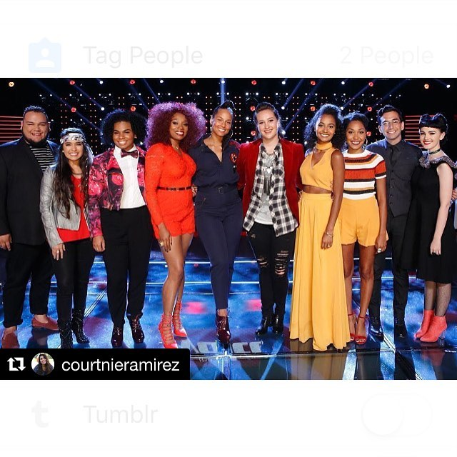 Knockouts start tomorrow! Be sure to tune into @nbcthevoice and catch Miss @courtnieramirez!!! YESSSS 🎤🎤 #Repost @courtnieramirez with @repostapp ・・・ KNOCKOUTS😎 @nbcthevoice #teamalicia #knockouts #thevoice #season11 #teamcourtnie