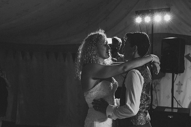 First dance in their very own garden festival tent... #festivalwedding #kentwedding #weddingphotography #weddingphotographer #wedding #firstdance #happycouple