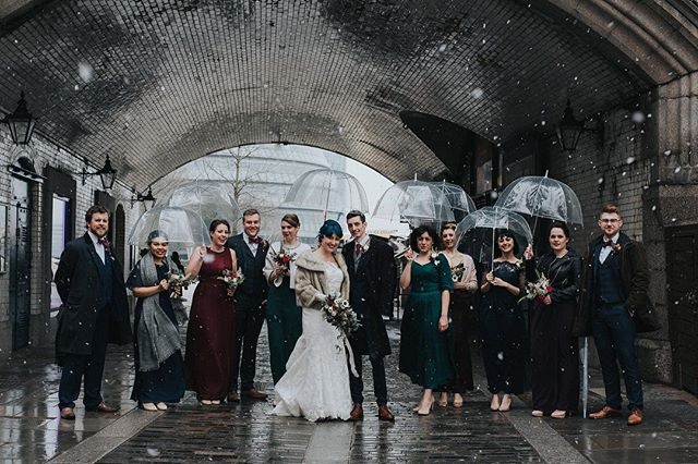 Sneak peak 2 of 4 of Groomsfolk (aka bridal party) captured under Tower Bridge last Saturday pre-wedding in the 1 degree C and snow shower #groomsfolk #bridalparty #weddingphotographer #weddingphotography #bridgeandgroom #londonwedding #englishweddingblog #junebugweddings #alternativebride #alternativewedding @rocknrollbride #bride #groom #wedding @englishweddingblog @junebugweddings