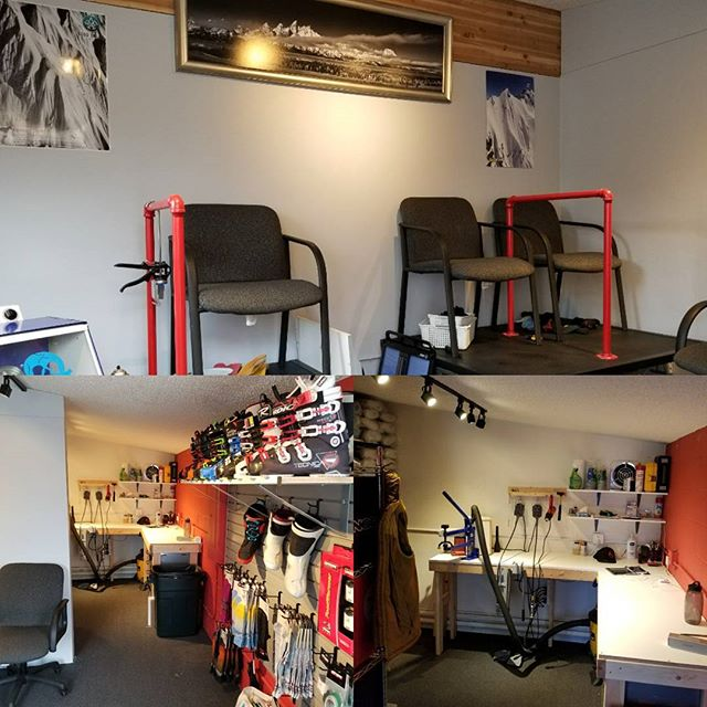 #tetonbootlab 2.0 is open for the season! New location, above the new #hoffsbikesmith. Winter is here! #happyfeet