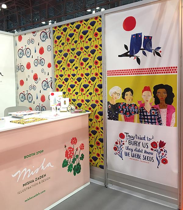 Misha Zadeh Surtex 2017 Booth