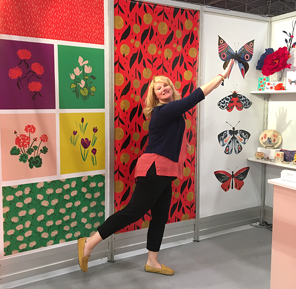 Karen Gustafson at Surtex 2017 with Misha Zadeh Illustration & Design